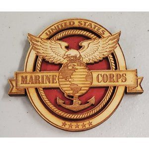 Marine Corps - Made in the USA - Wooden Magnet